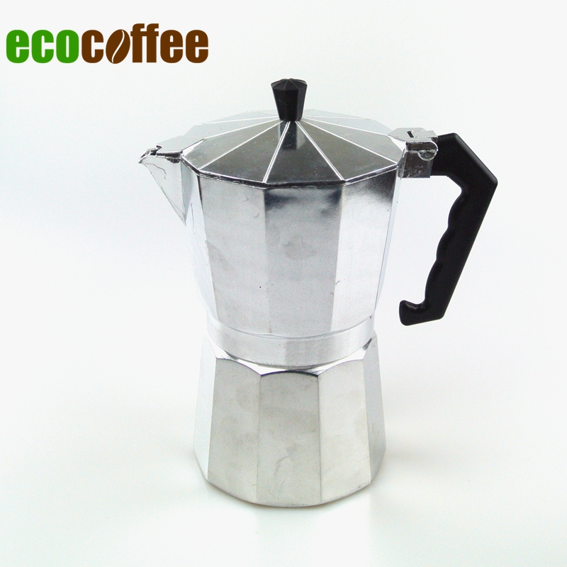Free Shipping High Quality Espresso Aluminum moka pot Espresso Coffee Makers 3 Cups 6Cups 9 Cups