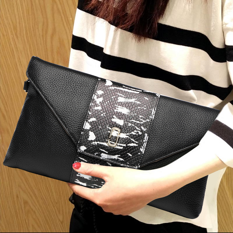 High Capacity Top Quality Genuine Leather Long Wallet Lady Purse Women Clutches Hand Shoulder Bag Envelope Crossbody Evening Bag vintage serpentine genuine leather woman clutches evening bag crossbody chain shoulder bag handbag clutch wallet lady long purse