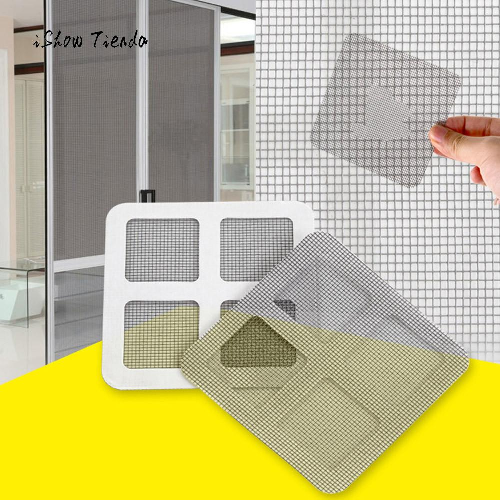 3pcs Anti-insect Fly Door Window Mosquito Screen Net Repair Tape Patch Adhesive Kitchen Bedrooms Curtain Window Patch In Many Styles