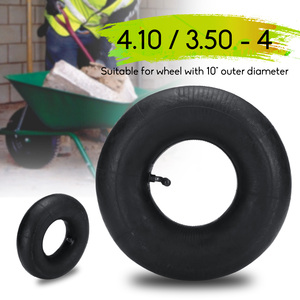 1 piece High Quality Pneumatic Wheel Trolley Wheel Inner Tube for Trolley Wheel with 10 inch Outer Diameter 4.10/3.50-4