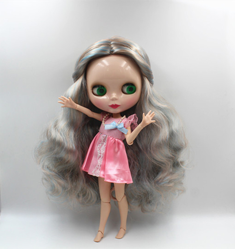Free Shipping BJD joint RBL-384J DIY Nude Blyth doll birthday gift for girl 4 colour big eyes dolls with beautiful Hair cute toy free shipping cheap rbl no 1 7 diy nude blyth doll birthday gift for girls 4 colour big eyes dolls with beautiful hair cute toy
