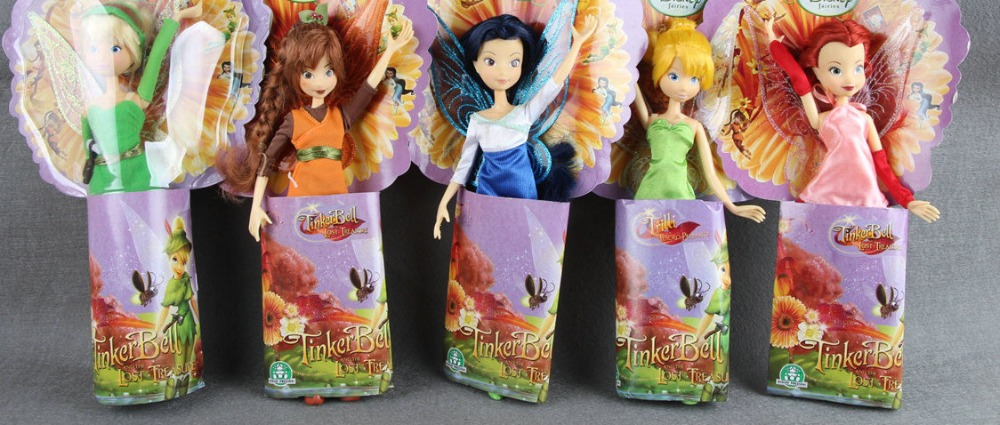 Tinkerbell & the Lost Treasure 10 inches 24cm Doll Girl Collection toy Gift rare w i t c h 6 inches doll with pvc bag collection girl gift