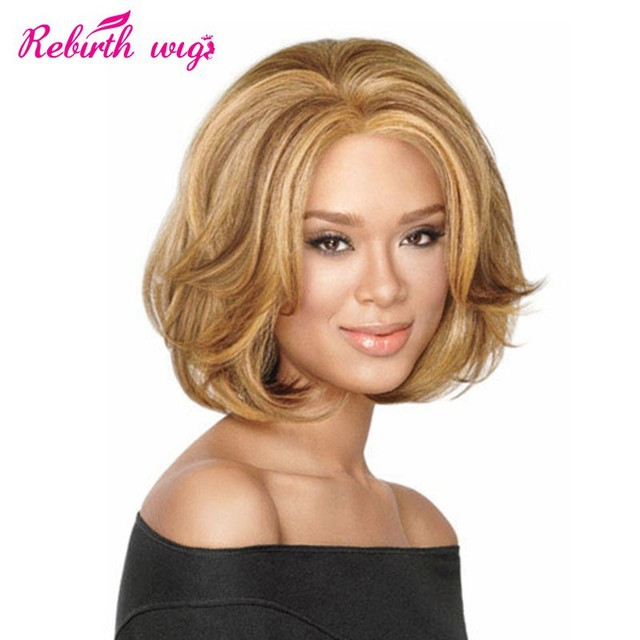 Short Hair Wigs For Black Women 2015 New Natural Straight Synthetic