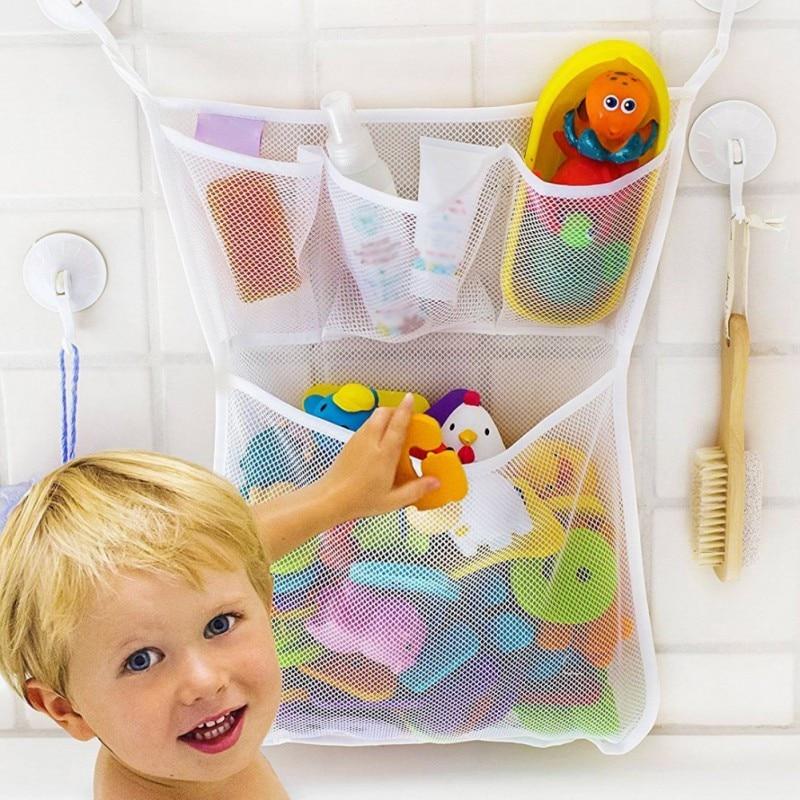 Детские Ванная комната Ванна сумки Органайзер для игрушек сеточку сумка для хранения Организатор держатель вещи аккуратные