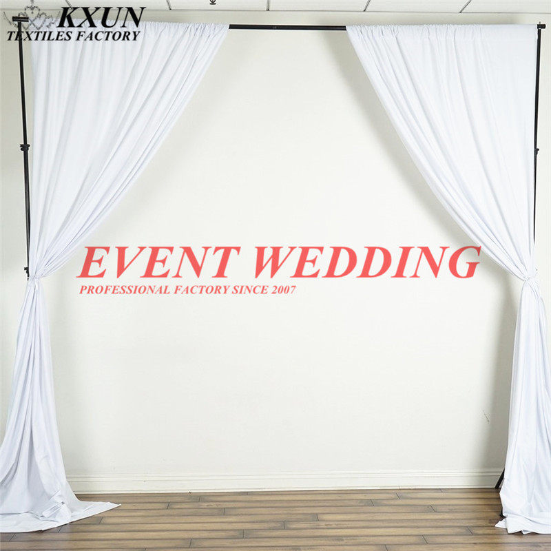 Good Looking Apart Polyester Panel Backdrop Curtain Photo Booth Stage Background For Wedding Event Decoration