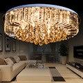 Кристалл комбинация горшок оптовая продажа простой круглый K9 кристалл потолочный светильник светодиодный светильник для гостиной столово...