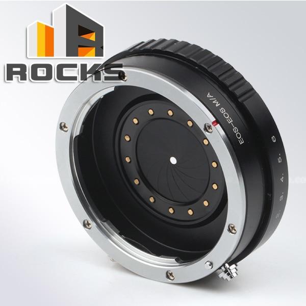 Pixco adaptateur de monture d'objectif à ouverture réglable pour objectif Canon EF vers EOS M EF-M M2 anneau d'adaptateur d'appareil photo sans miroir