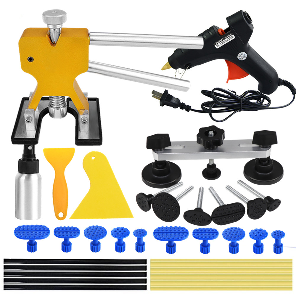 Auto Paintless Dent Repair,Car Dent Puller with Bridge Dent Puller Kit for Car Hail Damage and Door Dings Repair Car Dent Paintless Repair Tool Kit
