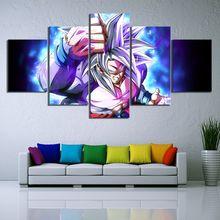 Anima Goku Dragon Ball 5 Piece Modern HD Print Wall Art Canvas For Living Room Decor Painting Home