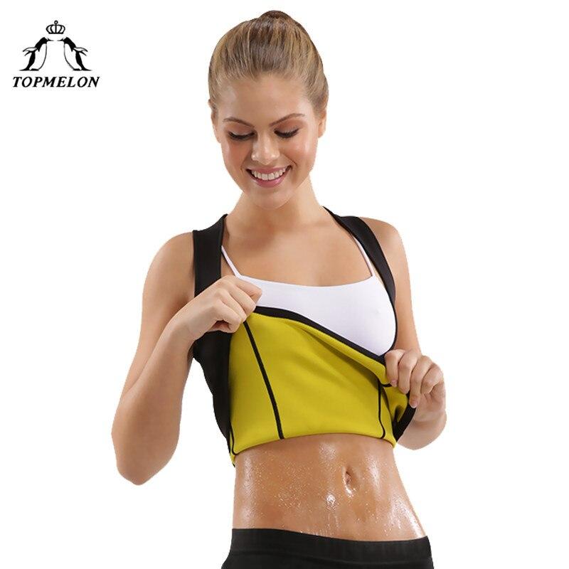 TOPMELON Corset Shaper Woman Waist Trainer Neoprene Sauna Suit Slim Shapewear Corset Modeling Strap Tops Sweat Body Shaper