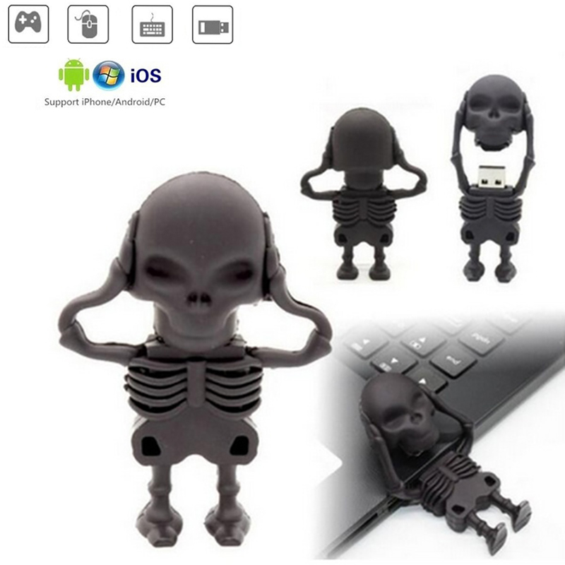 Skeletonn Memory Stick Usb 3.0 Mini Usb Flash Drive 128gb U Disk Pendrive 64GB 32GB 16GB 8GB 4GB Pen Drive Free Micro