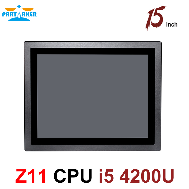 Industrial Tablet PC IP65 Waterproof 15 Inch Touch Screen All In One PC Intel Core I5 4200U For Factory Automation