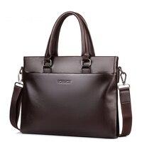 VORMOR PU Leather bag Business Men bags Laptop Tote Briefcases Crossbody bags Shoulder Handbag Men's Messenger Bag 17052