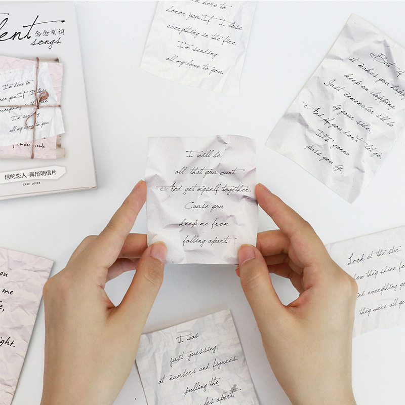 30pcs/lot English Letters Postcard Message Notes Memo Cards Paper Bookmark Envelop Gift Wish Card Stationery