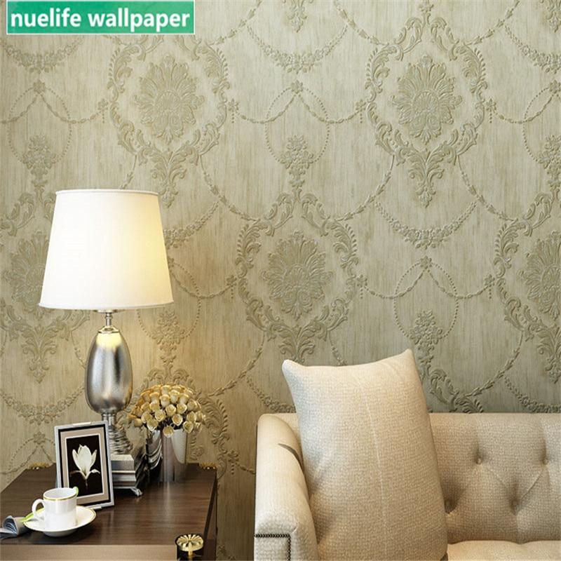 Papier peint moderne européen jardin été petite chambre fraîche salon salon de thé fond TV papier peint non-tissé papier peint