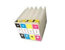 vilaxh T7551-T7554 Empty Refillable Ink Cartridge For Epson Workforce WF-8010DW WF-8090DW WF-8510DW WF-8590DW With ARC Chip