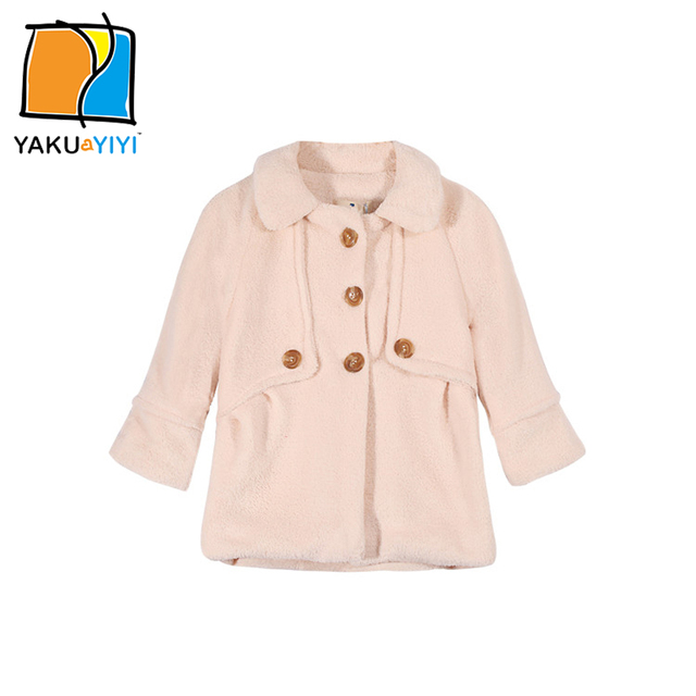 YKYY YAKUYIYI Solid Color Girls Outwear Single Breasted Baby Girls Outerwear & Coats Long Sleeve Children Jacket Girls Clothing