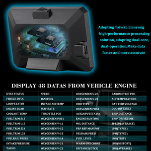 Image 3 - GEYIREN P16 head up display hud obd2 temperatur auto KM/h MPH Turbo Boost Druck geschwindigkeit projektor auf die windschutzscheibe für auto HUD