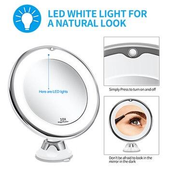 Makeup Vanity Mirror With 10X Lights LED mirror light LED makeup mirror with led light зеркало для макияжа espejo de maquillaje 2