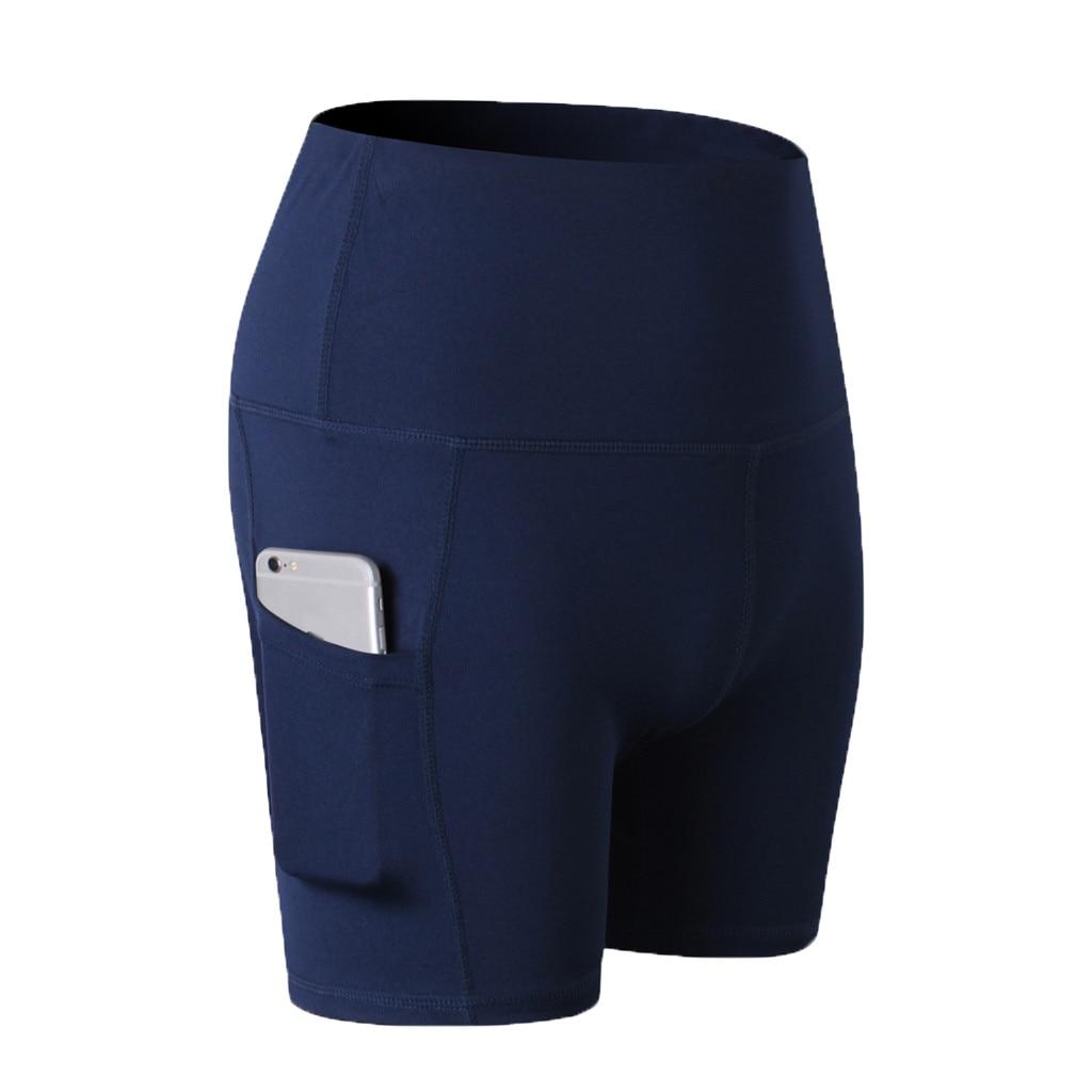 Short Legging Women's High Waist Abdomen Control Training Running Pocket Leggings Courte Femme  #9