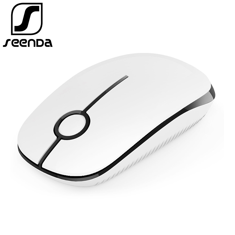 SeenDa 2.4G Wireless Mouse Silent Button Mouses For Laptop Notebook Chromebook Computer Office Optical Slim Mice Birthday Gift