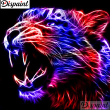 Dispaint Full Square/Round Drill 5D DIY Diamond Painting Animal tiger glow Embroidery Cross Stitch 3D Home Decor Gift A11092 dispaint full square round drill 5d diy diamond painting animal tiger sceneryembroidery cross stitch 3d home decor gift a11463