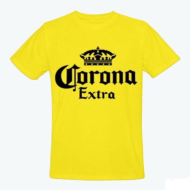 8568aab14 2016 de moda de la marca de cerveza Corona Extra camiseta hombres Fitness de  alta calidad