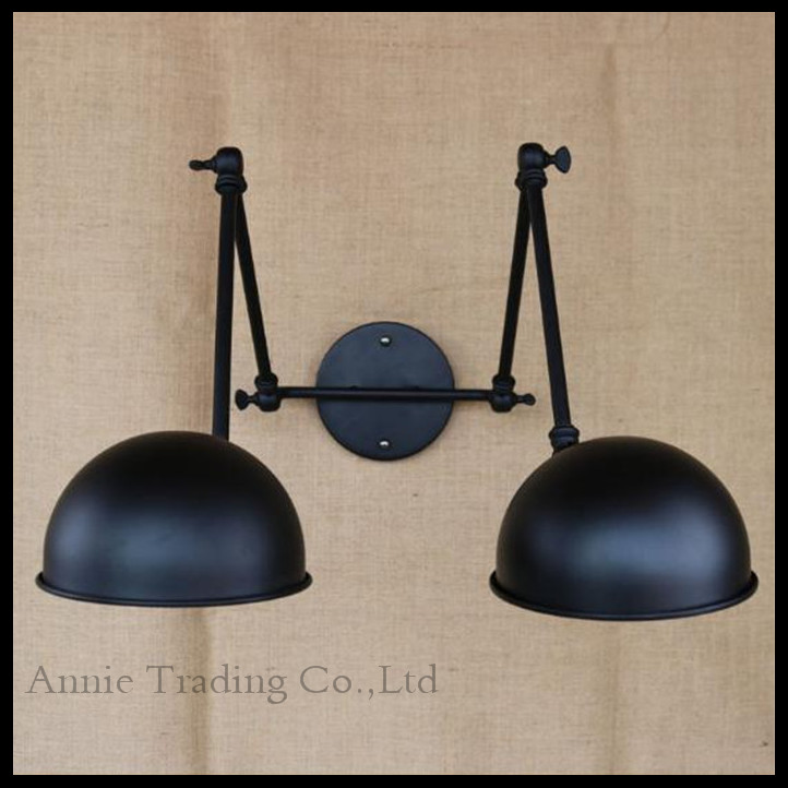 Free shipping American country industry lampshade wall lamps Vintage Industrial Wall Light Edison lamp-chimney luminaria free shipping 5026l replica designer edison industrial vintage wall lamp