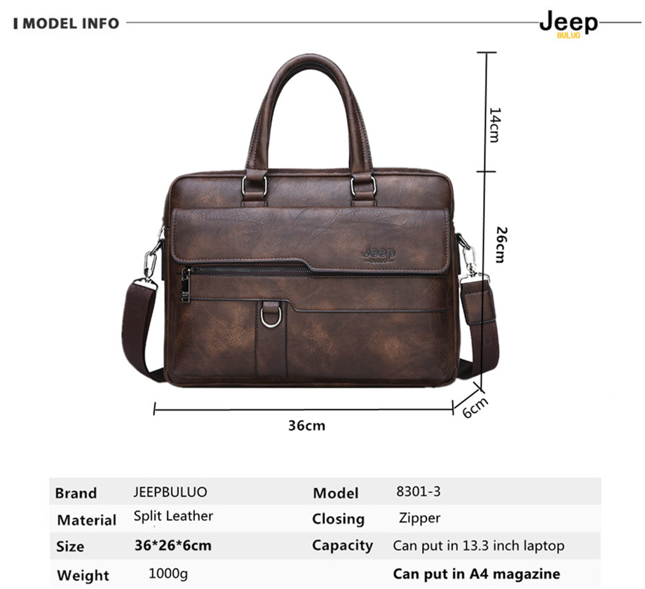 HTB1AEQAa4D1gK0jSZFsq6zldVXan JEEP BULUO Brand Man Business Briefcase Bag Split Leather High Quality Men office Bags For 14 inch Laptop A4 File Causel Male