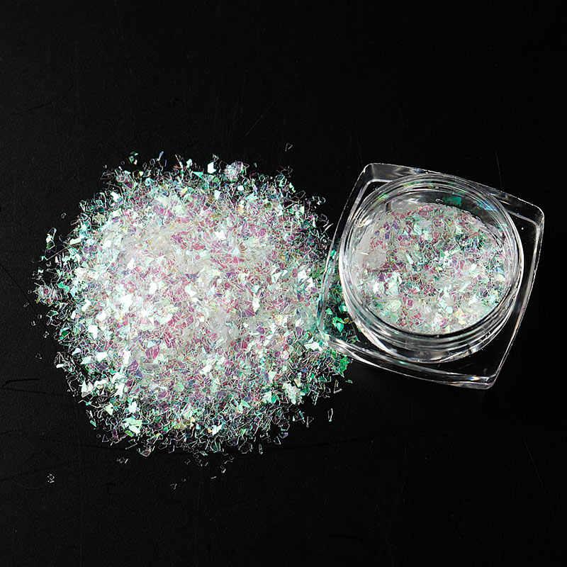 Ellwings DIY Magical Starry Sky Mirror Effects Nail Glitter UV Chameleon  Brocade Gel Sequins Glitter Sequins Nail Polish