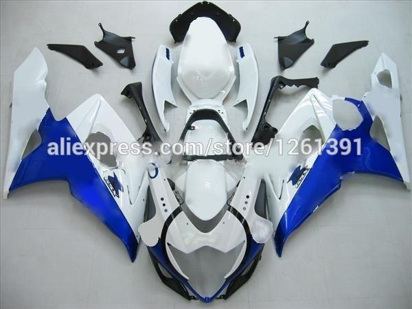 Литья под давлением обтекатель для SUZUKI GSXR1000 K5 05 06 GSXR 1000 GSX-R1000 GSX R1000 K5 2005 2006 прохладный синий/белый кузов