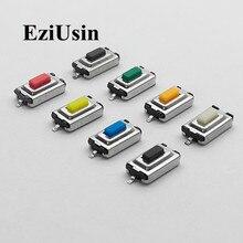 Micro interrupteur tactile Tact, 100 pièces, 3x6x2.5mm, 3*6 * SMD, blanc, rouge, noir, orange, vert, bleu, marron