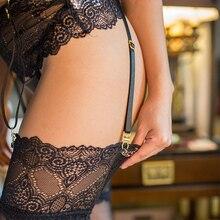 Long Strap Suspender Belt Lace Garter Belts