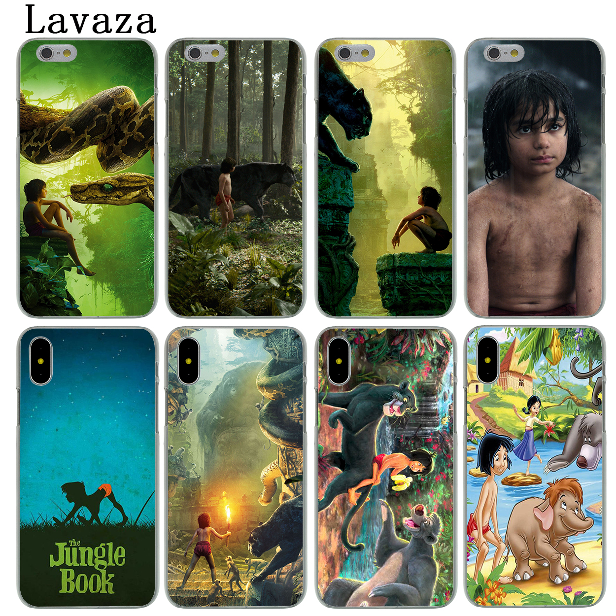 Lavaza The Jungle Book Hard Fashion Phone Skin Shell Case for Apple iPhone X 10 8 7 6 6S Plus 5 5S SE 5C 4 4S Cover