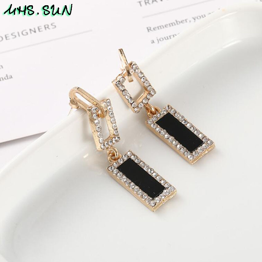 30-7Fashion Exaggerated Women Crystal Drop Earrings European Style Dangles Earrings Jewelry Trendy Design Party Accessories