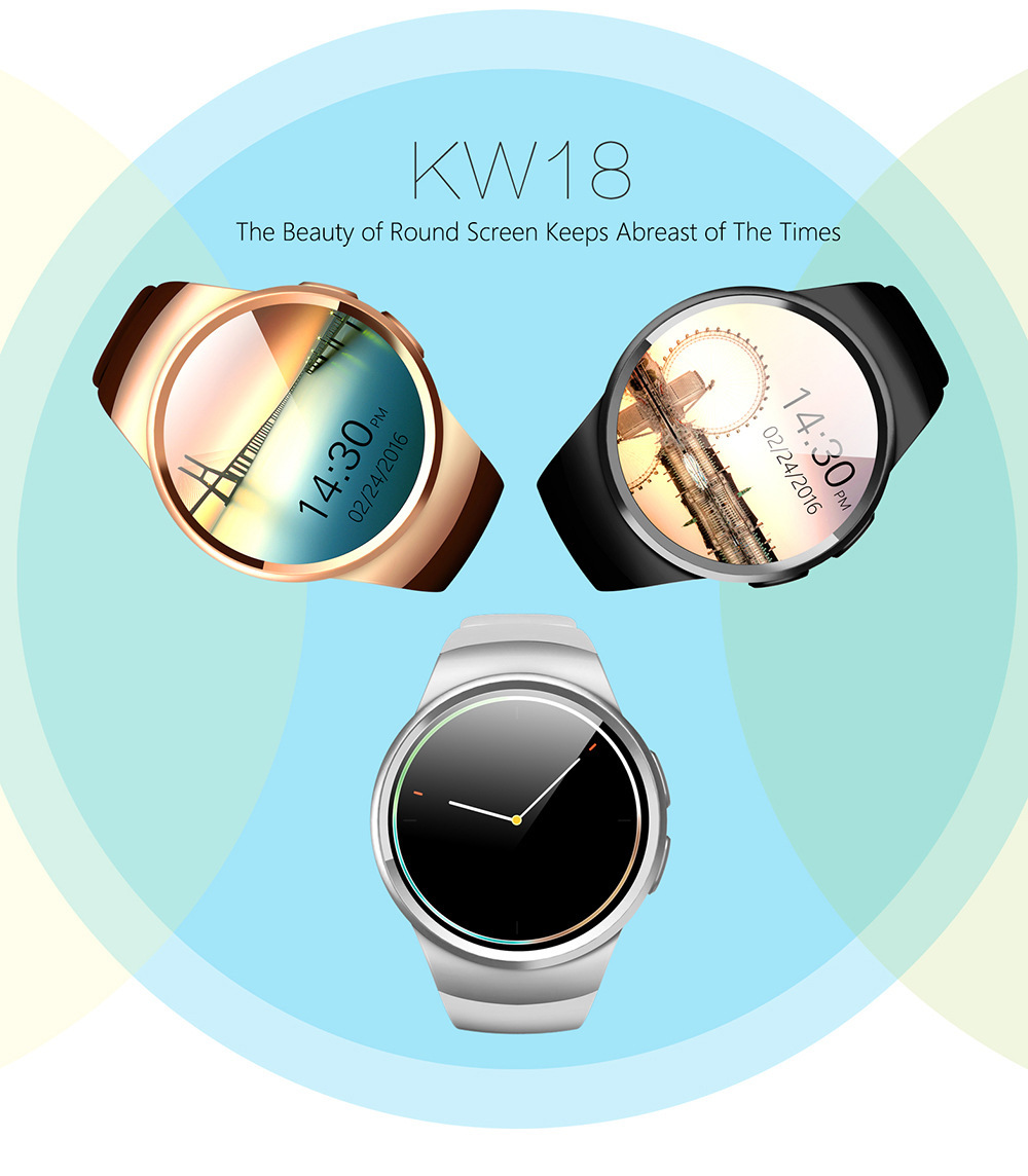 2017 Fashion Aplus Smart Watch KW18 Support SIM Card Bluetooth 4.0 Smart Clock High Quality for IOS and Android Phone
