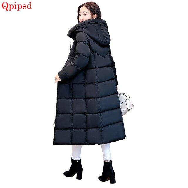 802d1c18abd De moda mujeres abajo Parka mujer 2019 coreano Super larga abrigos señoras  Slim espesar cálido abrigo