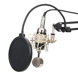 BM8000 karaoke microphone studio condenser mikrofon KTV BM 8000 mic For Radio Braodcasting Singing Recording computer