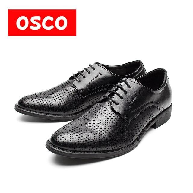 Оско фабрики всесезонные Новая мужская обувь модные Для мужчин Повседневная дышащая обувь Для мужчин сделано кожаные туфли #995703 P