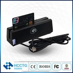 Interfaz USB multifunción 1/2/3 pistas de Skimmer de tarjeta magnética programable HCC110