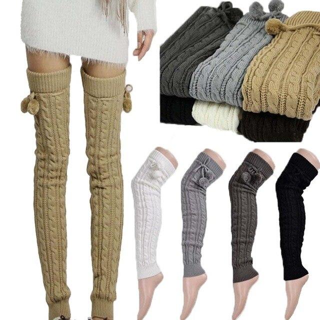 Nuevas mujeres Sexy cálido clásico calentadores de pierna tejido ...