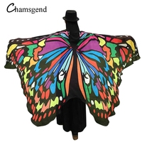Coolbeener Soft Fabric Butterfly Wings Fairy Ladies Nymph Pixie Costume Accessory Feb20
