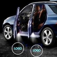 JURUS um par Para A Volvo luz Logotipo Bem-vindo Porta do Carro Luzes S80/S60/S80L/S60L/V60/XC60/V40/XC90 Bem-vindo Santo Sombra lâmpada