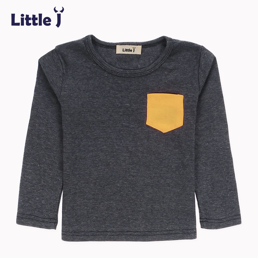 Soft Solid Kids Boys T Shirt Candy Color Long Sleeve Baby