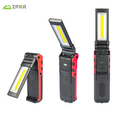 ZPAA 1PCS COB Super Bright Adjustable  LED Work Light Inspection Lamp Hand Torch Magnetic Camping Tent Lantern With Hook Magnet