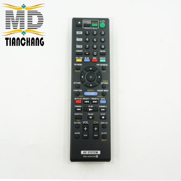 New Original Remote Control RM ADP076 For Sony AV System Blu ray Disc DVD font b