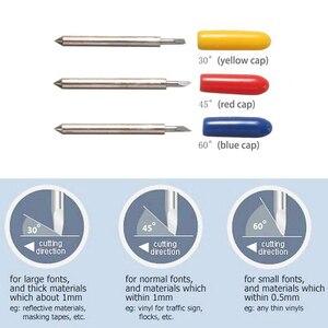 Image 1 - 10x רולנד Cricut חיתוך פלוטר קרביד טונגסטן להב ויניל סרט חותך סכין 30 45 60 Dergree קיזוז 0.25mm
