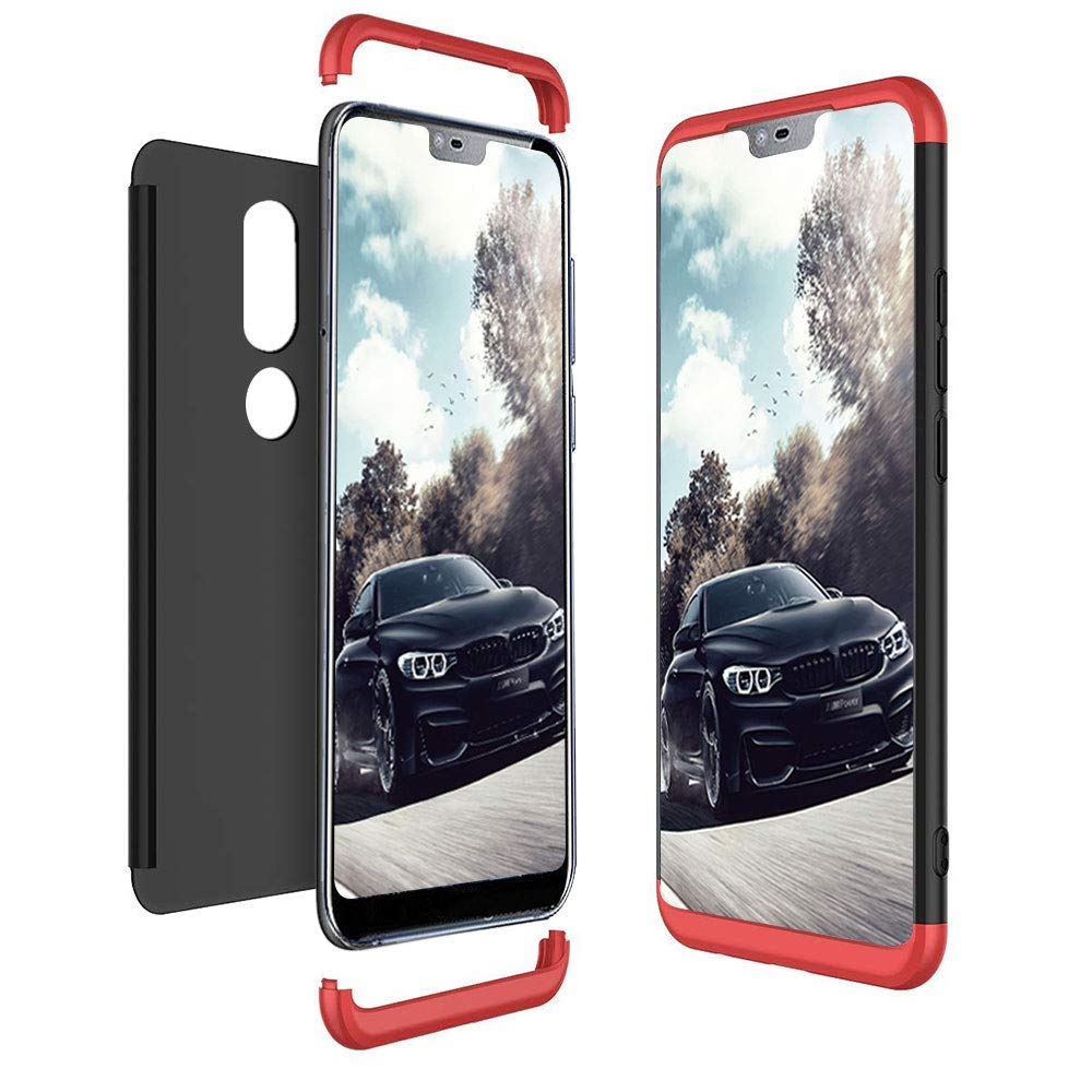 Case for Nokia 6.1 Plus Case for Nokia X6 Shockproof 360 Full Protection 3 In 1 Matte Cover for Nokia X6 Case 6.1 Plus Coque