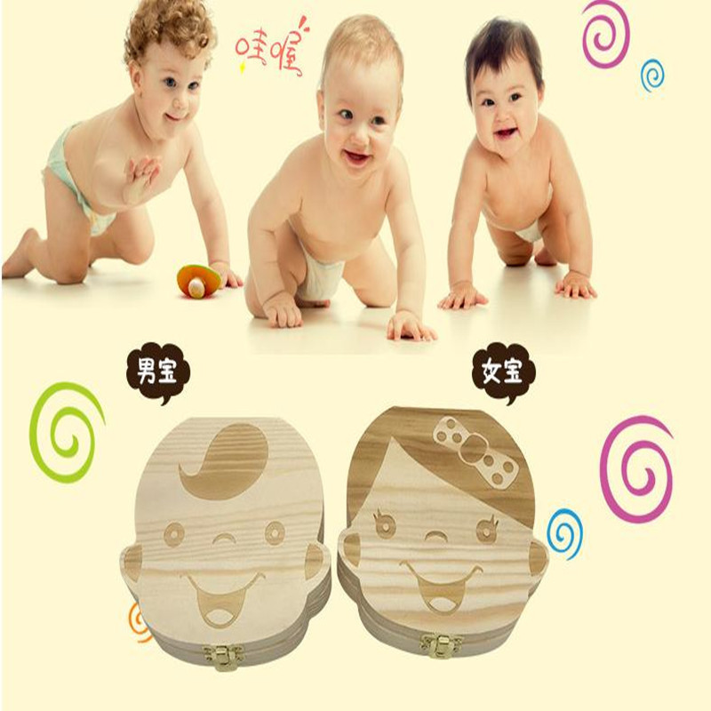 Boy And Girl Gift Box Deciduous Tooth Box Fetal Hair Umbilical Cord Tooth Collection Box Infant Souvenir Box
