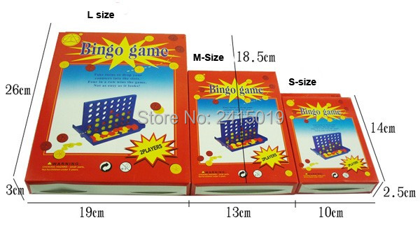 4-in-a-row S size four in a row line connecting bingo board game interactive intelligence children kids home travel party fun.